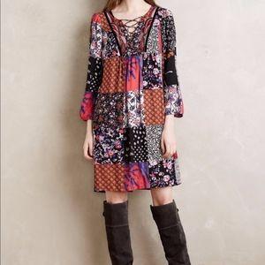 One September Anthropologie Patchwork Dress